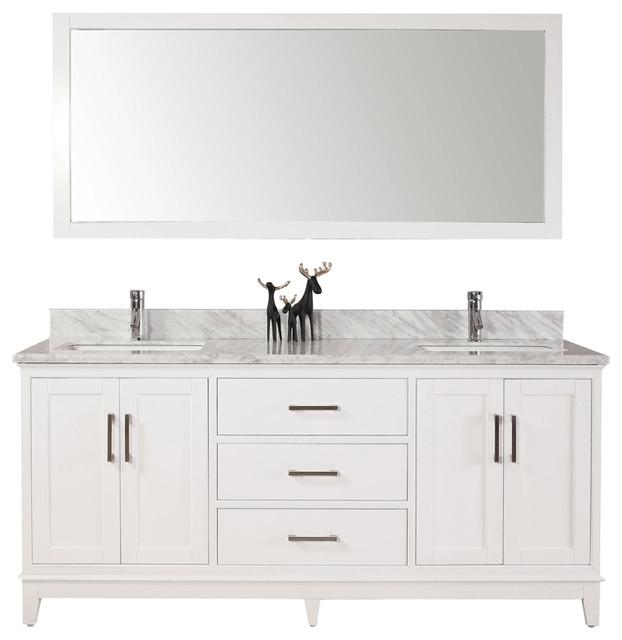 60 belvedere modern freestanding white double bathroom - Freestanding double bathroom vanity ...