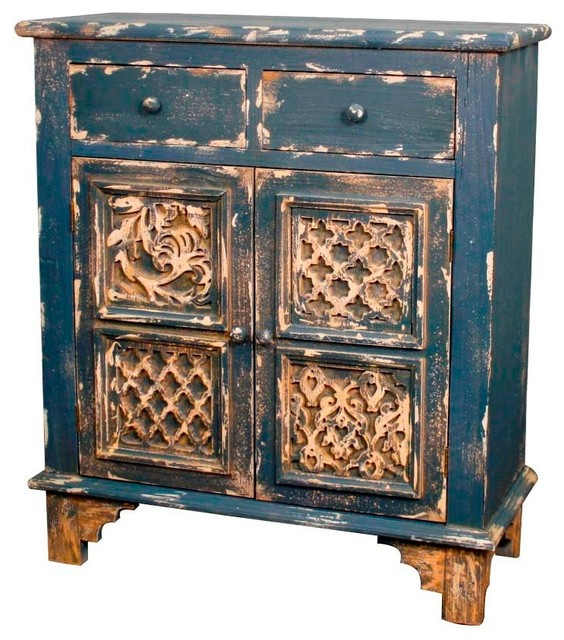 Lourdes Cabinet With 2 Drawers + 2 Doors mediterranean-accent-chests ...