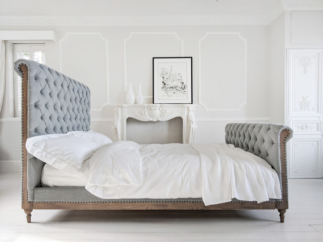 Lottie High Footboard Chesterfield Bed - Traditional ...