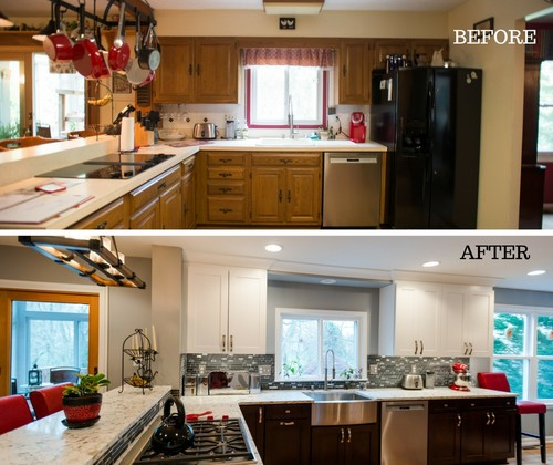 Gorgeous Kitchen Renovation In Potomac Maryland: Traditional To Contemporary Kitchen Remodel