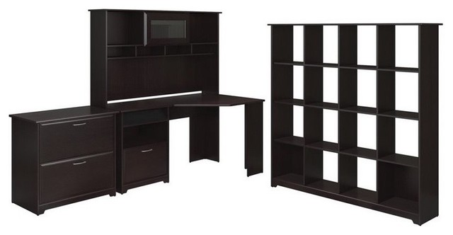 Bush Cabot 4-Piece Office Set, Espresso Oak