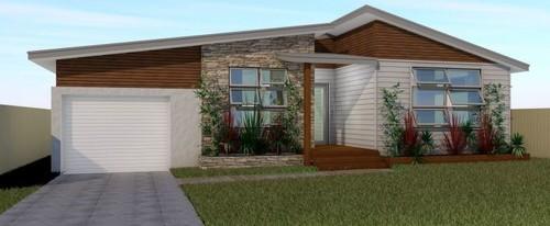 Reno facade design help please for Weatherboard garage designs