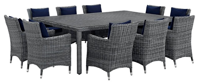 Outdoor Patio 11 Piece Dining Chairs