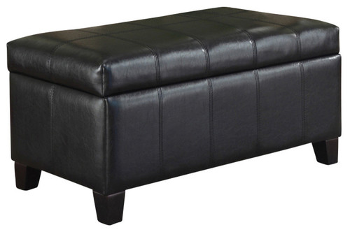 Bella Storage Ottoman, Black