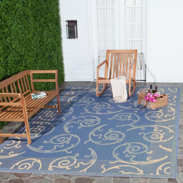 Fay Indoor/outdoor Rug, Blue, 9&x27;x12&x27;.