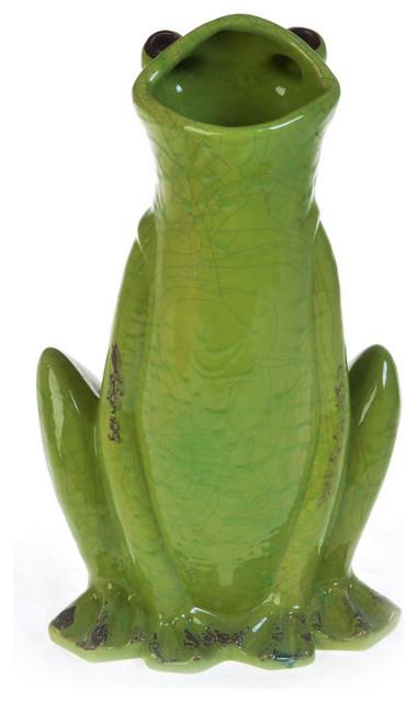 Ceramic Frog Vase Vases By Drew Derose Designs