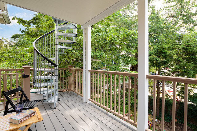 Cambridge triple decker   traditional   porch   boston   by ...