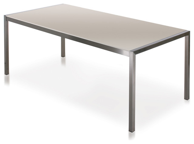 Harbour Outdoor Soho Glass Dining Table Modern Outdoor
