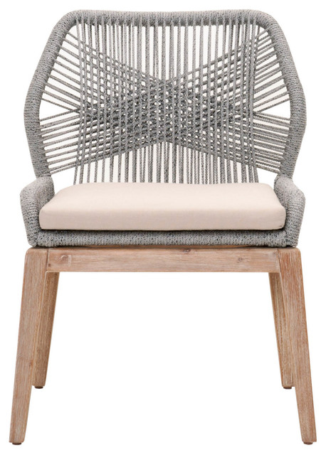 Loom Dining Chairs, Set of 2, Platinum