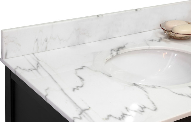 "Backsplash-White Marble-36""."