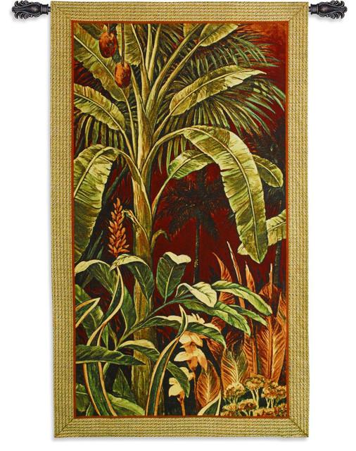 Bali Garden Wall Tapestry, 60x35.