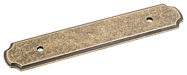 Jeffrey Alexander Cabinet Pull Backplate Antique Brass Finish - Cabinet And Drawer Knobs | Houzz