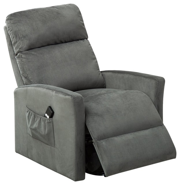 BONZY Lift Chair Power Reclining and Lifting Motion Recliner, Blue by BONZY