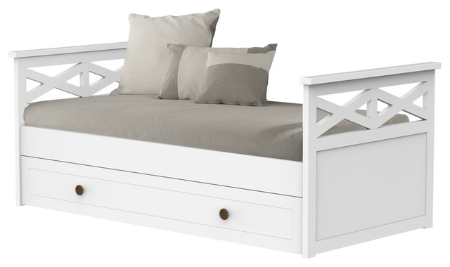 Aspas Single Trundle Bed, Without Drawers