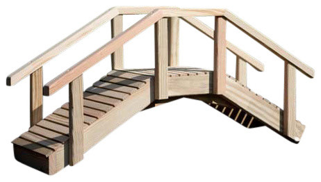 Treated Pine Mini Arched Bridge.