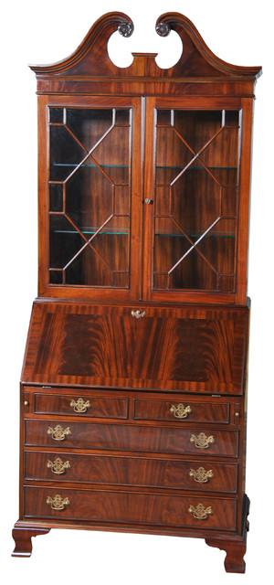Captivating Niagara Furniture, Mahogany Bookcase Secretary Desk Victorian Bookcases