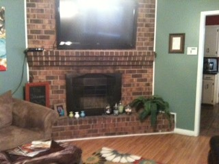 Fireplace Tv Cable Box And Wires