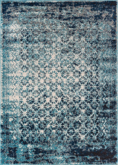 Well Woven Sydney Vintage Royal Blue Area Rug Contemporary
