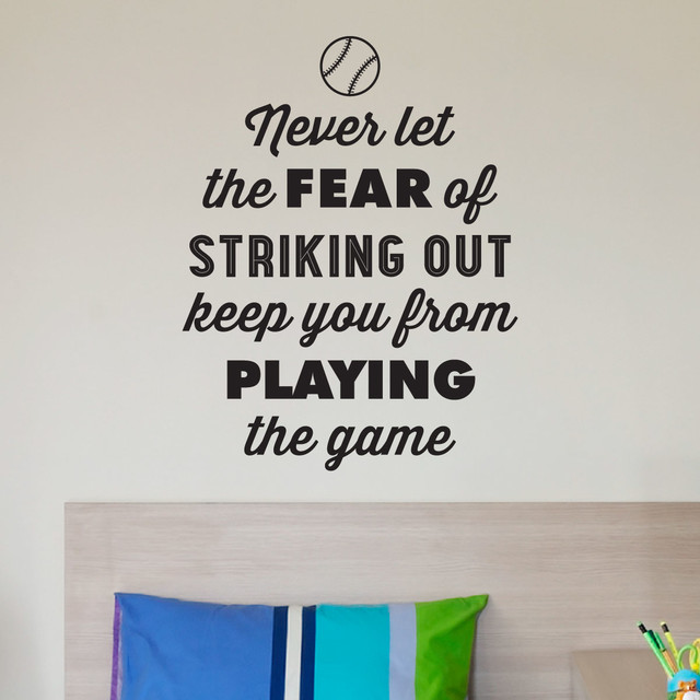 Fear Of Striking Out Babe Ruth Baseball Sports Wall Quotes Decal