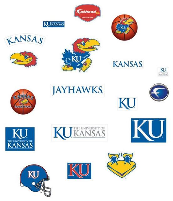 Ncaa Kansas Jayhawks Fathead Jr College Wall Stickers Set