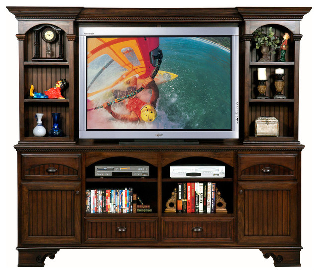 "Jack Media Center, Dark Cherry, With Hutch, 94.5""."