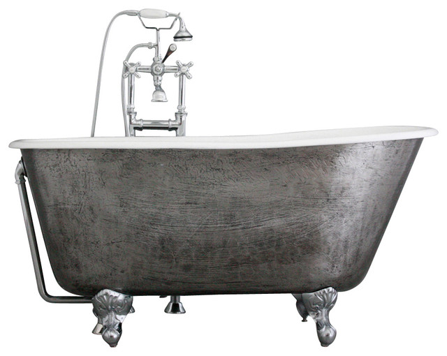 The newstead 54 cast iron swedish slipper tub with drain traditional bathtubs by for Woodbridge 54 modern bathroom freestanding bathtub