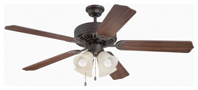 Craftmade Pro Builder K11109 204 5-Blade Ceiling Fan, Aged Bronze Textured.