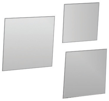 Decorative Wall Bathroom Self Adhesive Square Mirrors 3 Diameters Set Of