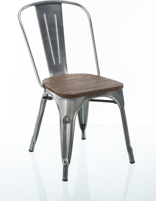 Awesome Modern Farmhouse Gun Metal Dining Chairs Set Of 2 Alphanode Cool Chair Designs And Ideas Alphanodeonline