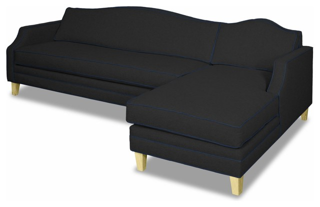 Blackburn 2-Piece Sectional Sofa, Coal/navy, Chaise On Right.