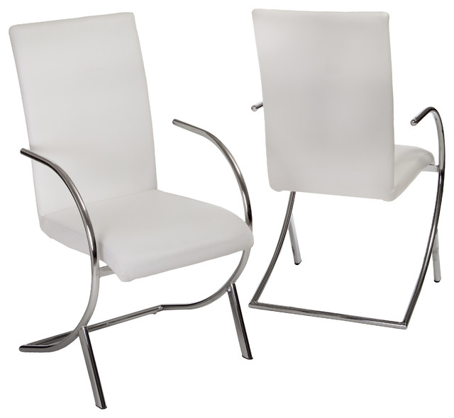 gdfstudio prima side chairs set of 2 white dining chairs