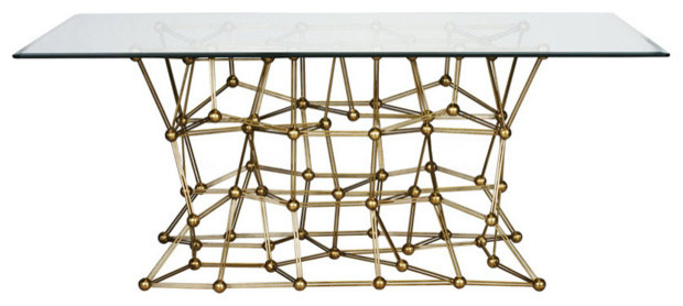 Molecule Dining Table 72, Gold