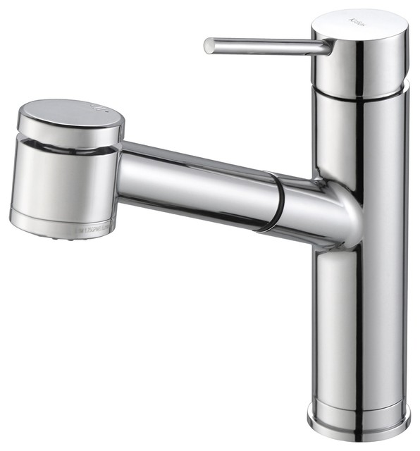 Kraus Usa Inc Mateo Single Lever Pull Out Kitchen Faucet Kitchen Faucets Houzz