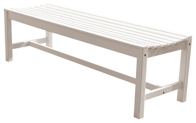 Pleasing Bradley Eco Friendly 5 Backless Outdoor White Wood Garden Bench Ibusinesslaw Wood Chair Design Ideas Ibusinesslaworg