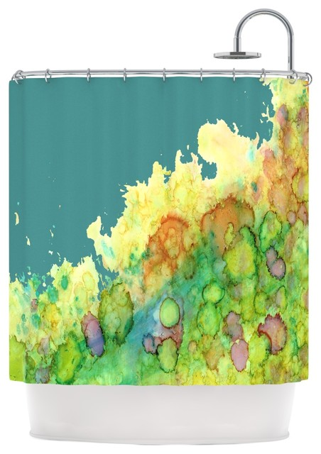 Kess Inhouse Rosie Brown Sea Life Ii Teal Green Shower Curtain View In Your Room Houzz
