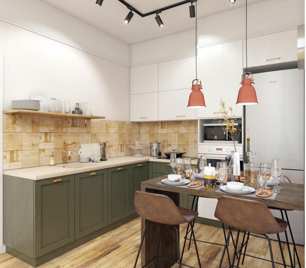 Проект квартиры с общей кухней гостиной