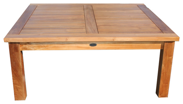 Shop Houzz Chic Teak San Francisco Teak Coffee Table Outdoor Coffee Tables