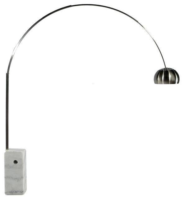 arco style floor lamp modern floor lamps by manhattan home design. Black Bedroom Furniture Sets. Home Design Ideas