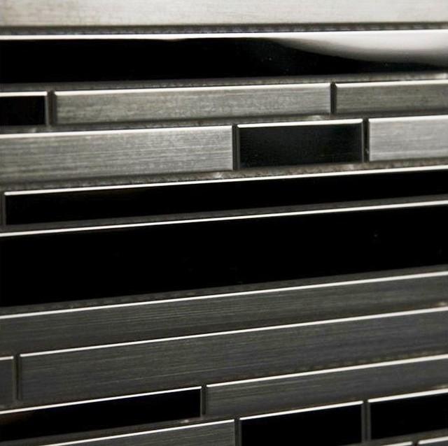 Sample Of Stainless Steel Interlocking Mosaic.