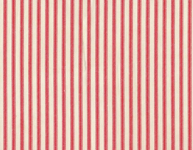 50W X 84L Shower Stall Curtain Cherry Red Ticking Stripe
