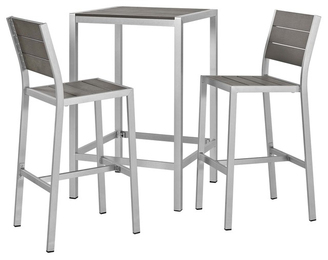 Modern Outdoor Bar Stool And Table Set
