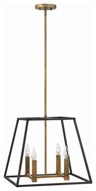 Hinkley Lighting 4 Light Foyer Fixture, Bronze, Small.
