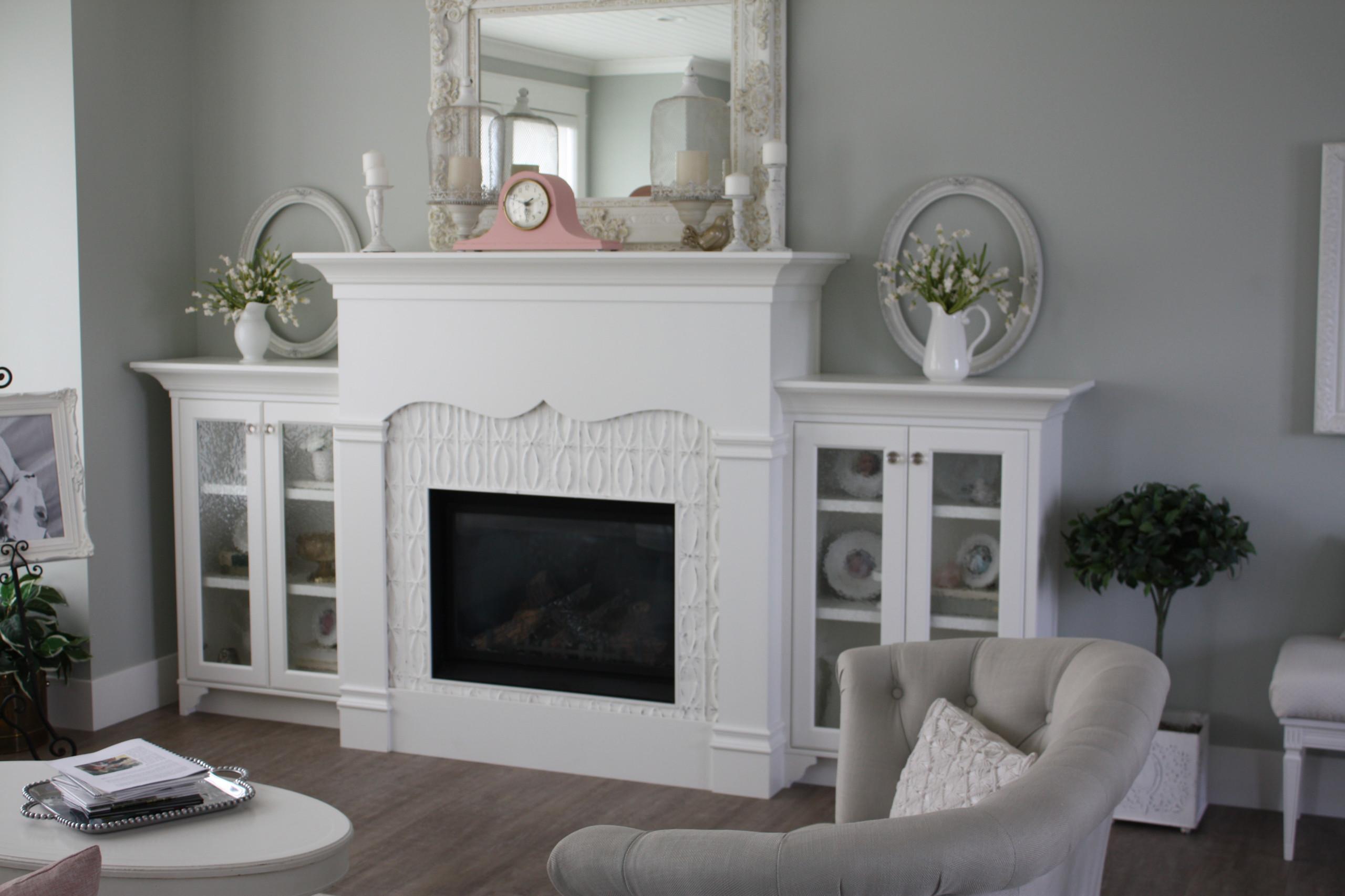 Modern White Fireplace
