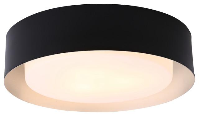 "Bromi Design B4106 Lynch 3-Light 15-3/4"" Flush Mount Drum Ceiling Fixture"