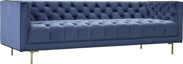 Sofa DOVETAIL WALTERS Blue Polyester