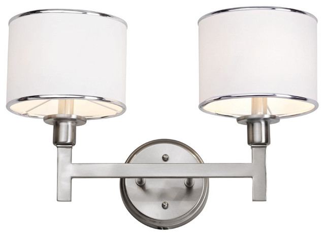 Brushed Nickel 2 Globe Vanity Bath Light Bar Interior: Trans Globe 1052 BN 2-Light Bath Bar