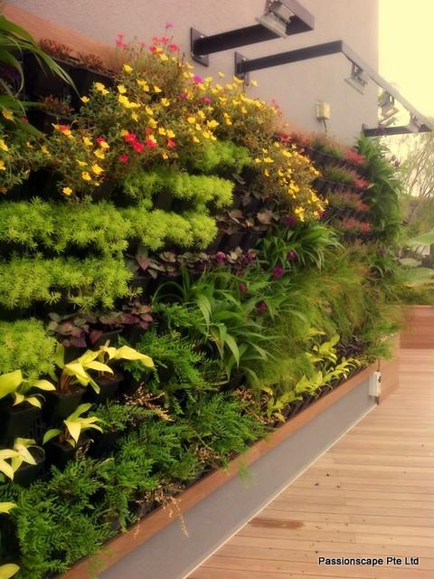 Garden And Landscape Pte : Rooftop entertainment garden tropical landscape
