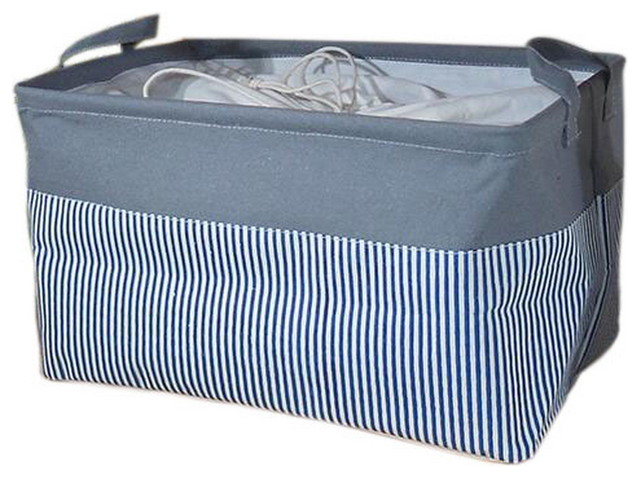 Linen Foldable Waterproof Household Laundry Basket Sealable Box.