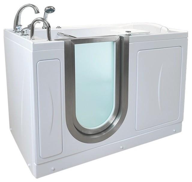 "52""x32"" Royal Acrylic Walk-In Bathtub, Left, Roman Faucet, Heated Seat/back Rest."