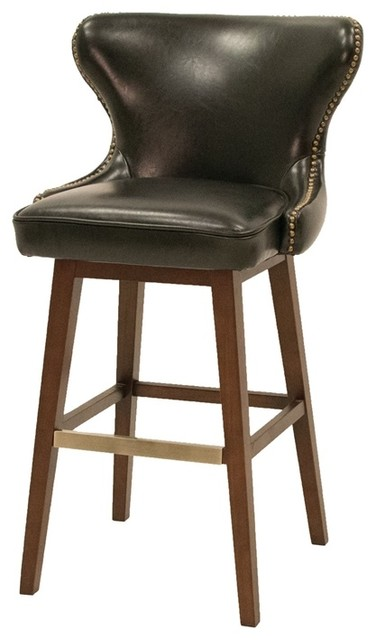 Four Hands Julie Swivel Bar Stool Black Height Traditional Stools